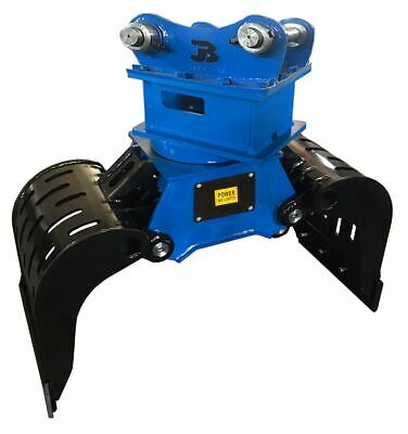 Hydraulic Rotating Excavator Selector Grab - 12-16 Tonne