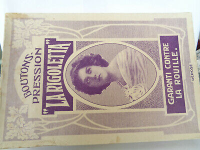 """Vintage Boxed (2 Grosse) """"La Rigoletta"""" Boutons Pression, Poppers/ Fasteners"""