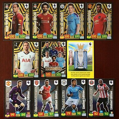 Panini Adrenalyn Xl Premier League 2019/20 Ballers/Limited Edition/Invincibles