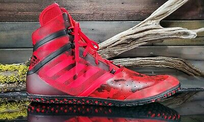 Adidas Impact Mens Sz 15 US Red Black Camo Wrestling Training MMA Lace Up Shoes