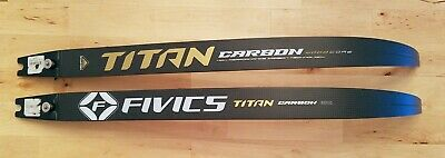 "Used Fivics Titan X2 Carbon/Wood ILF long recurve limbs 70"" 34#"