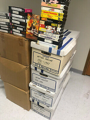 680 used VHS Tapes sold as BLANKS home recorded NHRA Drag Racing John Force IHRA