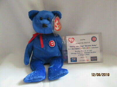 Ty Chicago Cubs PROMO Beanie Baby ~ DUSTY the Bear MWMT ~ RARE /& VHTF 8.5 Inch