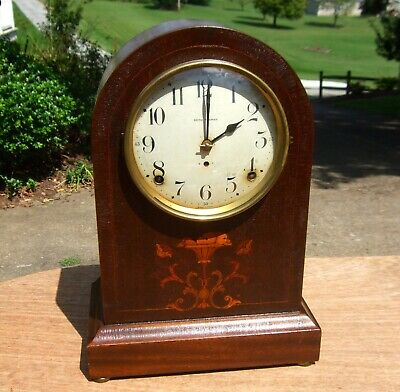 1913 Seth Thomas Prospect No. 4 Antique Mantle Clock, 8-Day Striking, Working