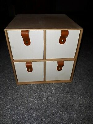 Four Drawer Cardboard Storage Cube Ideal for office or craft room