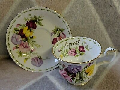 Royal Albert Flower of The Month - April - Sweet Pea - Cup and Saucer
