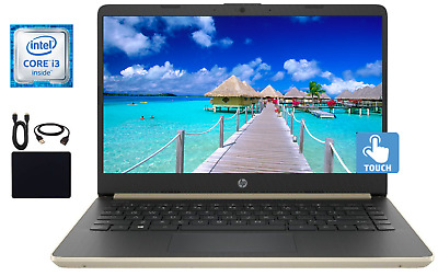 "2019 Newest HP 14"" Touchscreen Intel Core i3-8145U 2.1GHz, 8GB, 128GB SSD Win 10"