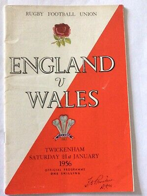 England V Wales 1956 Rugby Programme