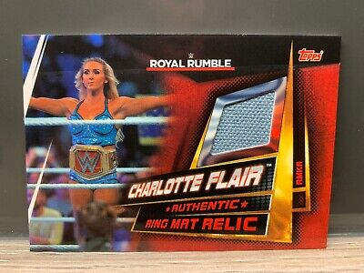 WWE Slam Attax Universe Charlotte Flair Ring Mat Relic Card Topps NXT