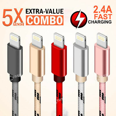 5X 1M 2M Apple iPhone 11 Pro XS Max XR X XS MFI Certified Charging Charger Cable