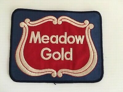Vintage Dairy Advertising Patch MEADOW GOLD PRODUCTS