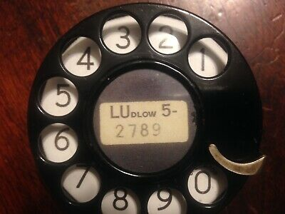 Vintage 1931 WESTERN ELECTRIC #4 TELEPHONE DIAL with mounting screws (NICE)