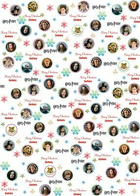 Personalised Harry Potter Christmas Wrapping Paper