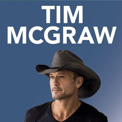 Tim McGraw Melbourne x 1 Ticket Section A Floor Seat