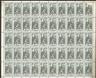"486 15¢ ""Armistice"" Full Stock Sheet of 50 VFNH (No Plate)"