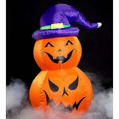 Indoor/Outdoor Halloween Inflatable 3ft Jack-O-Lanterns with Witch Hat w