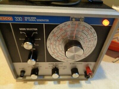 EICO Solid State RF Signal Generator 330  with test leads working