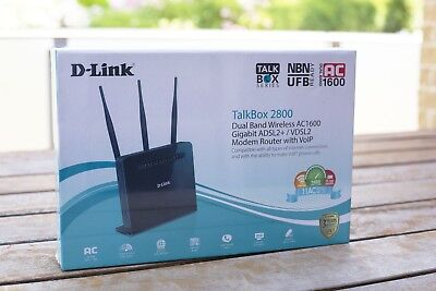 D-Link Dva-2800 Talkbox 2800 Dual Band Wireless Ac1600 Nbn Modem Router Voip
