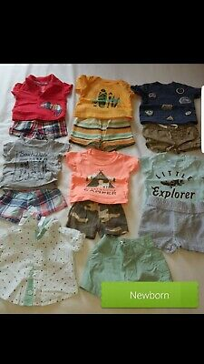 newborn boy clothes lot of 15 outfits barley used