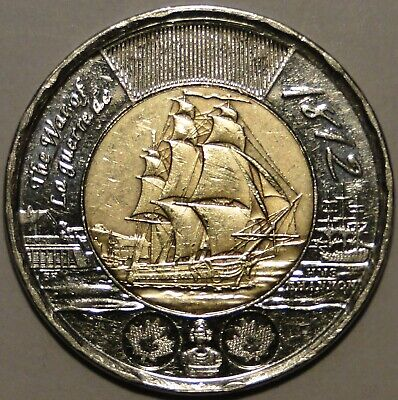 Canada 1812-2012 $2 dollar HMS Shannon toonie coin nice circulated