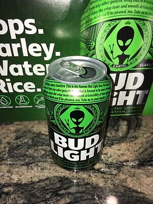 Bud Light Alien Area 51 Can Free Shipping Empty Earth Can