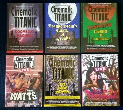 CINEMATIC TITANIC DVD lot of 6 TITLES《from the original MST3k Crew》SHIPS FREE!!!