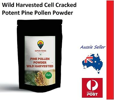 Pine Pollen Powder 100 Grams 98% Cell Cracked Wild Harvested