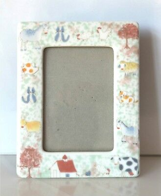 CHILD's PHOTO FRAME Ceramic New Never Used Xmas gift