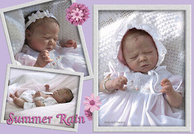 Realborn Doll Kit Summer Rain comes with COA, Body, plugs & Rings