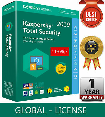 Kaspersky Total Security 2019 2020 1 Pc Device 1 Year | Global Key! Sale !!
