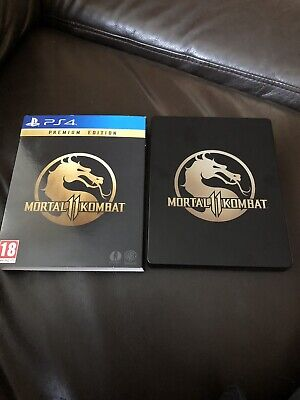 PS4 Game mortal kombat 11, premium edition, steelbook Case With Game .