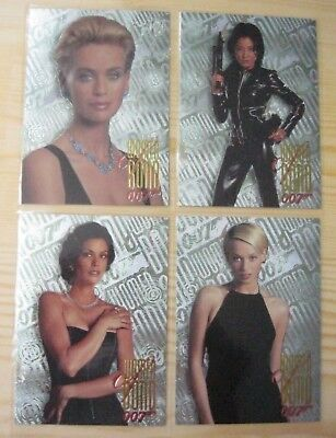 Inkworks James Bond Tomorrow Never Dies Women Of Bond Chase Set W1 - W4 Mint