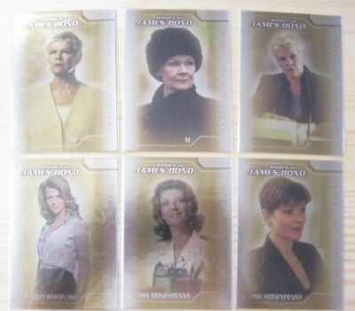 Inkworks James Bond 007 The Women Of James Bond  6 Foil Card Chase Set Mint