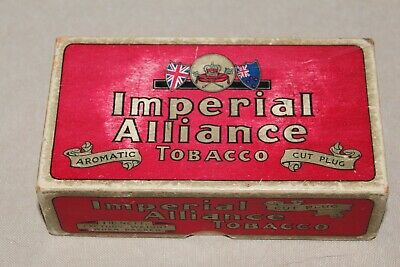 Imperial Alliance Cardboard Tobacco Box Made In Wellington New Zealand