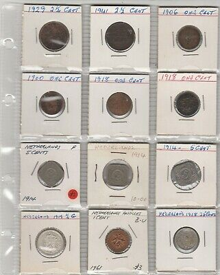 12  Mixed  netherland coins