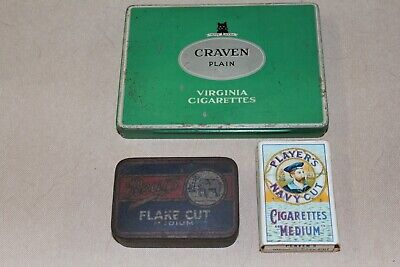 2 OLD TOBACCO TINS and a PLAYERS CIGARETTE PACKET