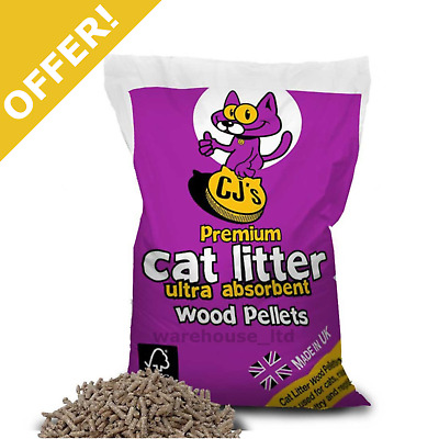 Cat Litter Wood Pellets 15L Highly Absorbent Pleasant Pine Fresh Aroma OFFER!