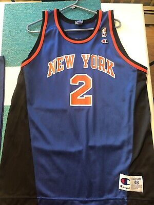 quality design 24cf2 7bc7b LARRY JOHNSON NEW York Knicks Starter Authentic Jersey 46 ...