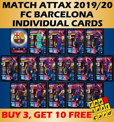 Match Attax 2019/20 Fc Barcelona Individual Cards 127-142 Buy 3 Get 10 Free!