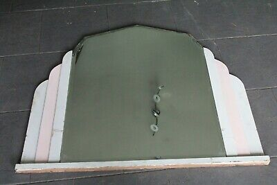 Authentic Antique Art Deco Era Theatre Cloakroom Wall Mirror