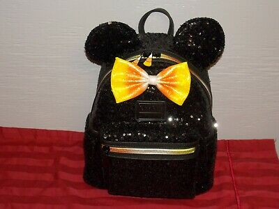 Disney Parks Minnie Mouse Candy Corn Sequined Mini Backpack By Loungefly New