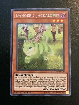 Yu-Gi-Oh! DANGER!? JACKALOPE? MP19-EN139 1ST PRISMATIC SECRET RARE! NM/M