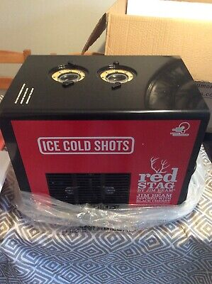 Brand New Red Stag By Jim Beam Shot Dispenser