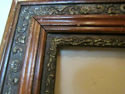Antique Ornate Wood Gesso Fine Art or Mirror Picture Frame