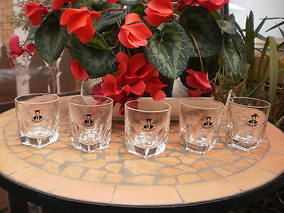 Set Of 5 Vintage Teacher's Scotch Whisky Glasses