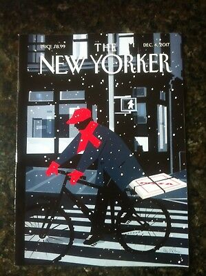 """THE NEW YORKER Magazine Dec. 4, 2017 """"Special Delivery"""" Kim Demarco"""