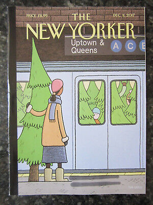 """The New Yorker Magazine Dec. 11 2017. COVER """"HOLIDAY TRACK"""" Tom GAULD"""