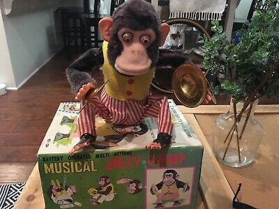 Vintage Daishin Musical Jolly Chimp Toy Story 3 Cymbal Monkey w/Tag & Box Works