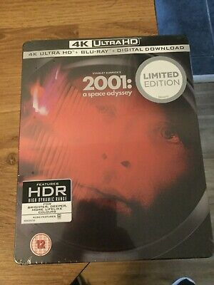 2001:A Space Odyssey Limited Edition 4K Ultra Hd Blu Ray Steelbook(New/Sealed)