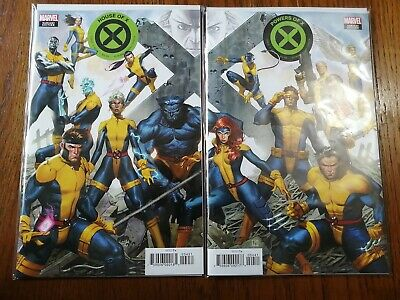 House of X #4, Powers of X# 4, Jorge Molina Connecting comics Variant set